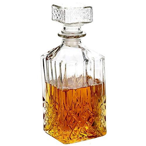 Klassieke glazen karaf ca. 900 ml voor Whiskey Cognac Brandy Likeur
