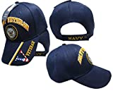 US Navy Licensed Veteran Shadow Embroidered Ball Cap Baseball Cap Hat One Size Blue