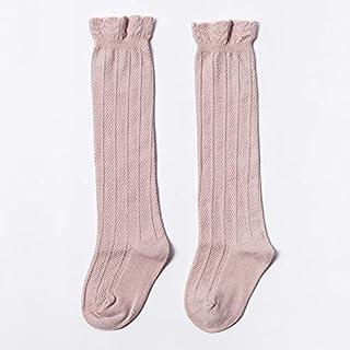 LIXUDECO, LIXUDECO Calcetines cálidos Niños bebé calcetines de punto de algodón del tubo largo rodilla pega los niños del cordón del verano altos niño Calcetines for niños Calcetines lindos de las muchachas 0-3