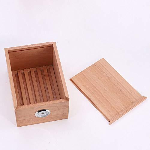 WYGG China-Cigarrillo Caja de cigarros: España importó una Caja humectante de Madera de Cedro sin Pintar. La Caja de Fumar Cubana Puede Contener 30 /& (Color : Beige)