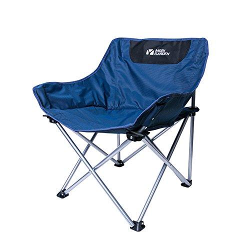 Be&xn Camping klappstuhl außen, Canvas Canvas Liegestühle Amerikanischen Lounge Chair Aluminium Portable Ageln Stuhl Leisure Stuhl Liegestuhl Mond Stuhl-Marine W60xH66cm(24x26inch)