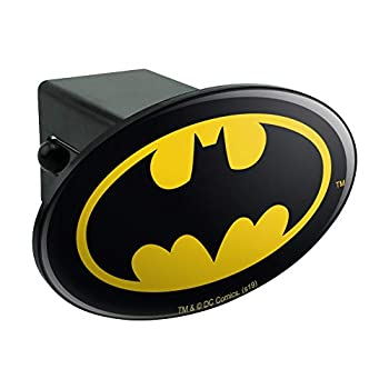 Graphics and More Batman Classic Bat Shield Logo Oval Tow Trailer Hitch Cover Plug Insert