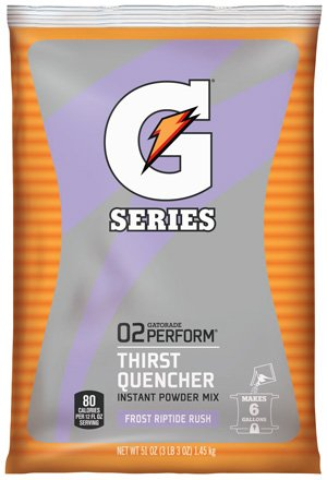 Gatorade Perform 02 Instant Powder Drink Mix 50.9 oz makes 6 Gallons (Riptide Rush)