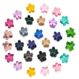 EQLEF Mini Haarspangen Kinder Haarspange Blume Bunt Haargreifer Baby Mädchen Haarnadel Kinder Haarschmuck (60Pcs) (60 Stücke)