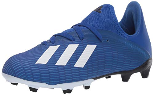 adidas Unisex-Child X 19.3 Firm Ground Boots Soccer Shoe, Team Royal Blue/FTWR White/core Black, 1 M US Big Kid