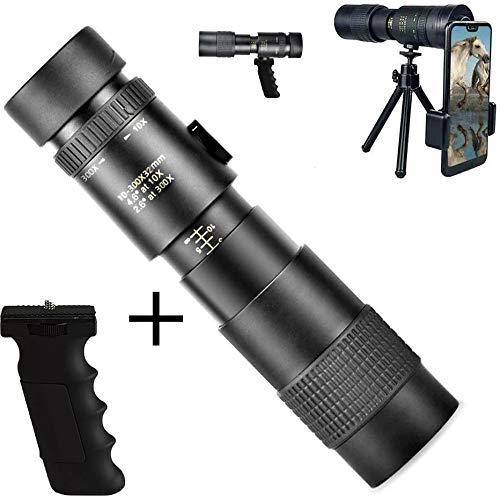 4K 10-300X40mm Super-Telephoto Zoom Monocular-Teleskop, Mit Smartphone Clip Und Stativ Spezialgriff Für Strand Trave