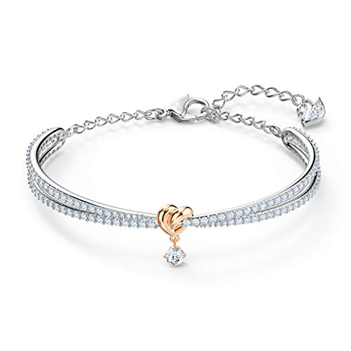 Swarovski Bracciale rigido Lifelong Heart, Bianco, Mix di Placcature