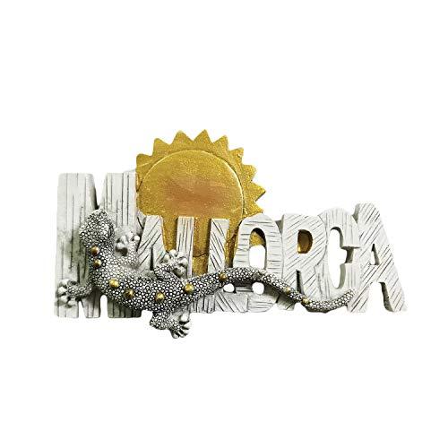 Mallorca España Letras 3D Imán de Resina para Refrigerador Recuerdos de Viaje, Hecho a Mano Decoración del Hogar y la Cocina Mallorca Imán Colección Regalo