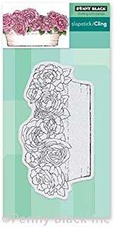 """Penny Black PB40679 Cling Stamps-Rose Garden 2.8""""X5.2"""""""
