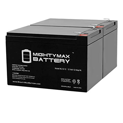 Mighty Max Battery 12V 12AH Go-Go Elite Traveller SC40E, SC44E - 2 Pack Brand Product