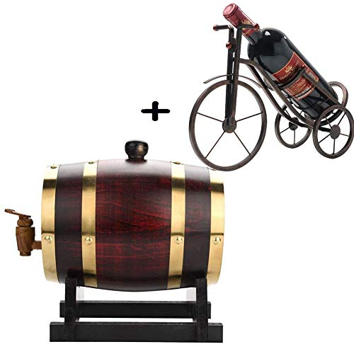 Eiken vat, whisky vat, for het opslaan van Whiskey Bourbon Tequila, Pak for huis, bar, feest en banket (Color : A, Size : 5L)
