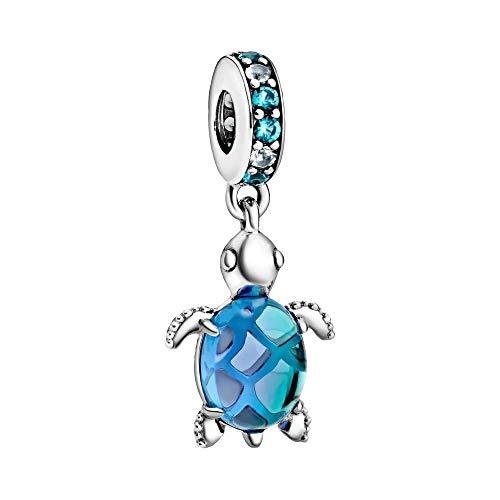 Colgante de tortuga marina de cristal de Murano