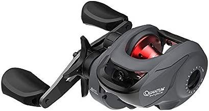 Quantum Invade Baitcast Fishing Reel, Size 100 Reel, Right-Hand Retrieve, Oversized Handle Knobs, Zero-Friction Pinion, Lightweight Graphite Frame, Dark Gray
