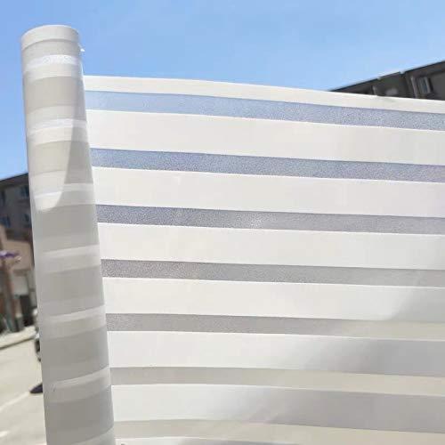 LMKJ Película de Vidrio de Ventana a Rayas Opacas esmeriladas Etiqueta de Vidrio Decoración de privacidad de Color Película de PVF Película de Vidrio autoadhesiva Decoración A54 40x100cm