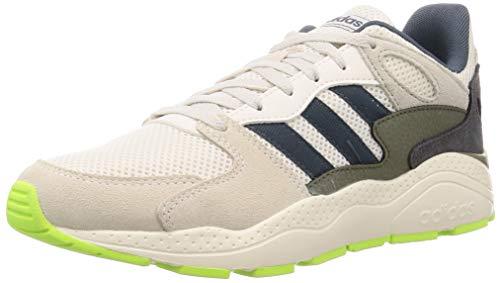 adidas Herren Crazychaos Laufschuhe, Chalk White/Grey Six/Legacy Blue, 44 2/3 EU