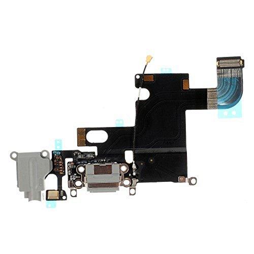 Flex Flat Audio Headset Jack Input Port, Vervanging Circuit Board Module voor USB Jack, Opladen Dock Connector voor Opladen + Microfoon voor Oproepen, DC Board, Data Sync voor iPhone 6 6G, Zwart