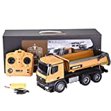 Remote Control Dump Trucks for Boys,Yirise1573 1/14 2.4G 10Ch Alloy Dump Truck Load Capacity 10Kg Rc Car,Rc Hobby Toys Truck Off-Road Sport Cars Gifts for Kids and Adults,Heavy-Duty Dump Truck Remote