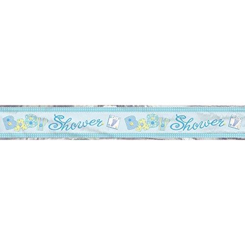 Partyrama Bannière en papier d'aluminium Bleu 366 cm