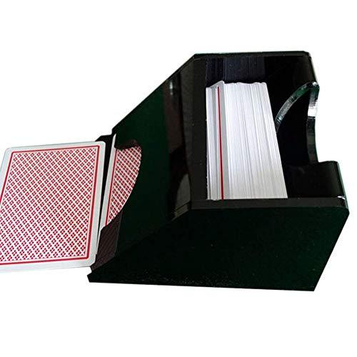 LYXMY Póker Tratar Zapato, Póker Cartas Dispensador, de Mesa Juego Tarjeta Póker Barajador - Negro, Talla Única