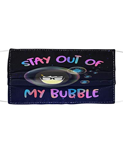 Coronavirus Stay out of my bubble M62 3-Layer Unisex Reusable Fashionable Washable Mouth Mask With Protective Filter