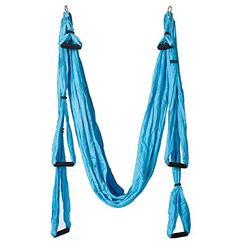 QuXiaoMo Yoga swing, super yoga hammock, with parachute fabric and handle, trapeze kit, large inverted aerial sling, indoor/outdoor hammock/swing