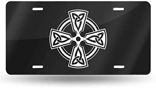 JUCHen Irish Celtic Cross License Plate, Car Tag, Personalized Car Tag, Custom Front Plate, Monogram License, Personalized License Plate