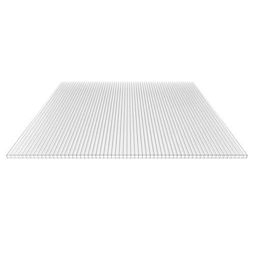 Stegplatte | Hohlkammerplatte | Doppelstegplatte | Material Polycarbonat | Breite 1050 mm | Stärke 10 mm | Farbe Glasklar
