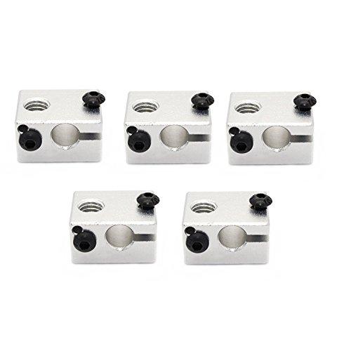 ARCELI 5 Unidades 3D Hotend V6 Calentador Impresora extrusora de Bloques de Aluminio