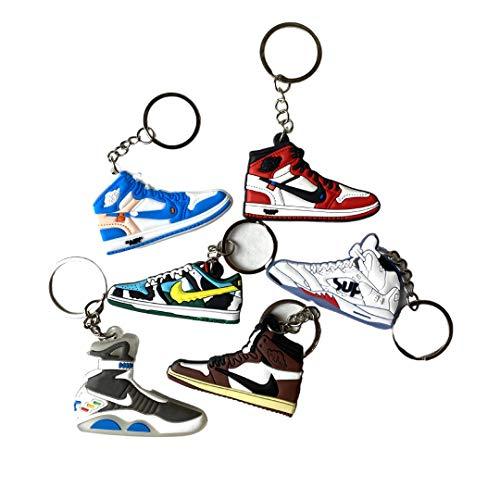 SneakKeyz - 20 Pack Variety Hype 2D Sneaker Keychain Off White Fashion Shoe Keychains Bulk Pack