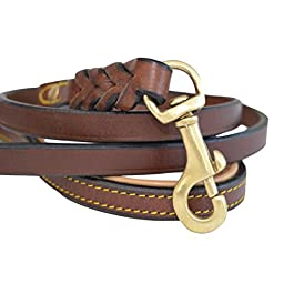 Soft Touch Collars – Leather Braided Dog Leash