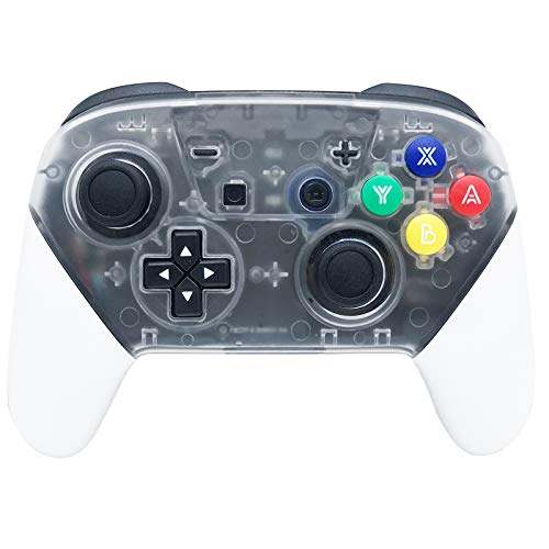 Switch Pro Controller, Pro Controller for N-Switch and Switch Lite, Wireless Switch Controller with 1000mAh Rechargeable Battery and Gyro Axis- White