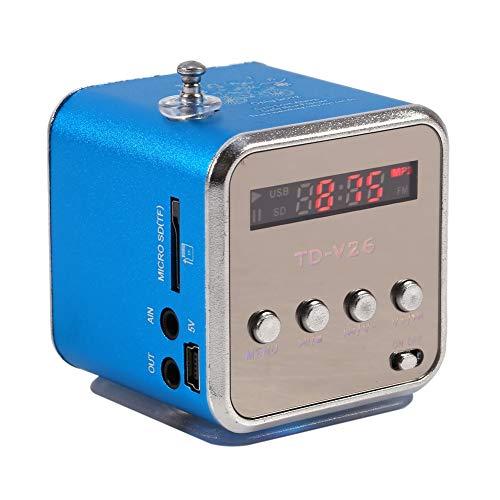 Zerone Digitaler Lautsprecher Mini-Lautsprecher Musik-Player FM Radio Stereo MP3 MP4 Musik-Player PC Mode Unterstützung TF Karte USB Disk FM (blau)