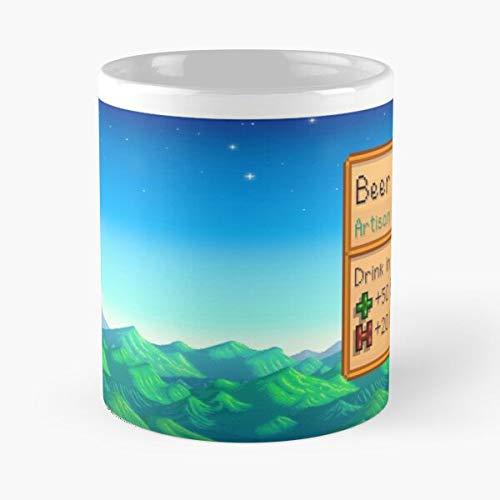 Valley Beer Stardew Best Taza de café de cerámica de 325 ml
