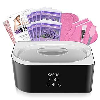Paraffin Wax Machine for Hand and Feet - Karite Paraffin Wax Bath 4000ml Paraffin Wax Warmer Moisturizing Kit Auto-time and Keep Warm Paraffin Hand Wax Machine for Arthritis