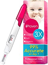 One Step HCG Urine Pregnancy Test - Midstream HCG Fertility Test - Do It Yourself Home Pregnancy Tests (DIY) - Trying To Conceive (TTC) - iProven FMH-139 - 3 Pregnancy Tests