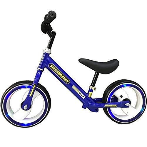 Balance Bike Niños y niños pequeños 12 'Balance Bike Ajustable Asiento antideslizante Manillar No Pedal Stride Deporte Entrenamiento Caminar Equilibrar bicicletas para edades de 18 meses a 6 años Niño