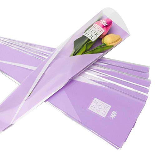 100 pcs unique rose sacs d'emballage bouquet de fleurs sacs d'emballage #03