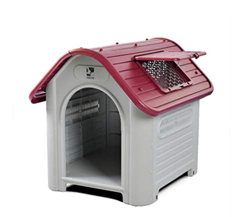 Plastic luxe grote hondenhok middelgrote kennel indoor outdoor hondenhuis voor huisdieren