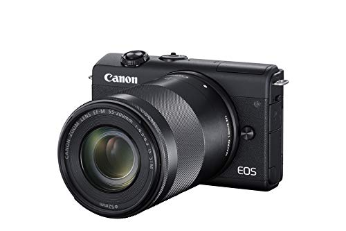 Cámaras Modelo Canon EOS M200 Kit Black + EF-M 15-45 + 55-200 IS STM Marca CANON