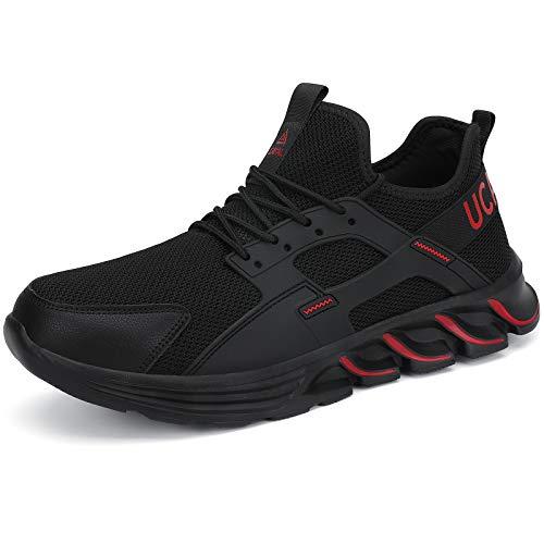 UCAYALI Zapatos de Seguridad Hombre Zapatos de Trabajo Mujer Zapatillas de Seguridad con Punta de Acero Zapatos Protección Rojo Oscuro N Gr.43