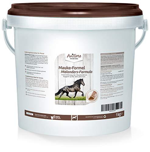 AniForte Mauke Formel für Pferde 1kg - Hautpflege & Hufpflege, Unterstützung des Stoffwechsel & Immunsystem, Pferdepflege für vitale Haut & Wohlbefinden