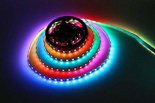 WS2812B Led Streifen Licht, Traumfarbe 16.4FT WS2812B 300 Leds 5050 RGB SMD Individuell Adressierbar LED Seil Licht, Volle Farbe LED Streifen Licht DC 5V Nicht Wasserdicht (Schwarz PCB)