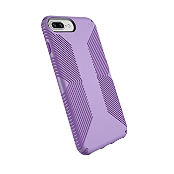 Speck Products Presidio Grip Case for iPhone 8 Plus  Also fits 7 Plus and 6S Plus/6 Plus  Aster Purple/Heliotrope Purple
