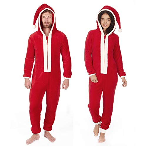 Weihnachten Unisex -Jumpsuit Herren Damen Xmas Herbst und Winter Hoody Pyjama Bluse Hoodie Onesies CICIYONER