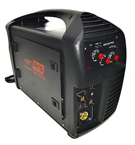 HERPRO MIG 250 PRO Soldador Inverter MIG (hilo) y MMA (electrodo) de 250 Amperios 60% ciclo de trabajo, válido para hilo de 0,6mm. 0,8mm. y 1,00mm.