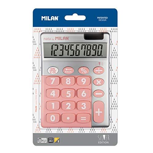 Blíster calculadora de sobremesa 10 dígitos Silver Rosa