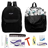 12 VALUE PACK - Why buy retail when you can buy wholesale? Get the most out of your budget by purchasing 12 backpacks and 12 (9 piece) hygiene kits for one low price. CHARITY/DONATION - These relief items are perfect for emergency preparedness suppli...