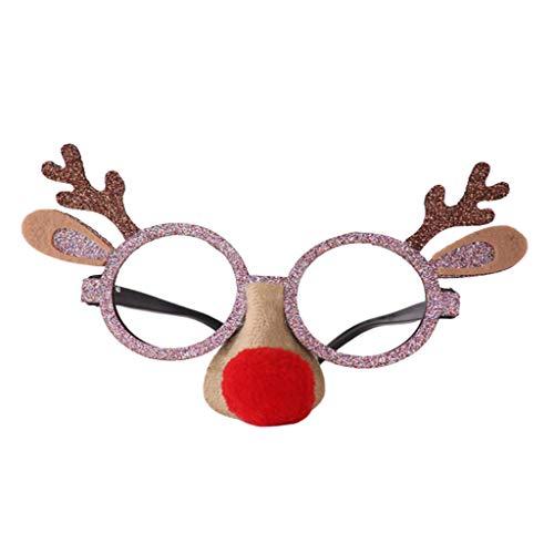 Yue668 - Cristales de Navidad, decoracin de Navidad, Navidad, Navidad, gafas de Santa mueco de nieve, para adultos o nios, regalo de Navidad