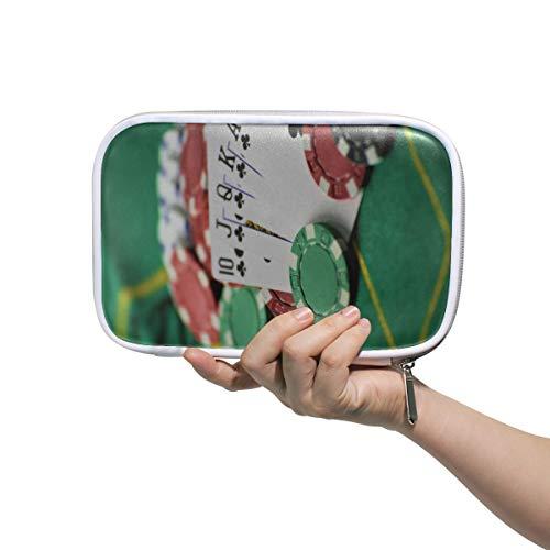 Pen Pouch Card Chips auf Spieltisch Beauty Bags für Mädchen Reisen Kosmetiktasche Multifunktionale weiche Make-up-Fall für Männer Frauen