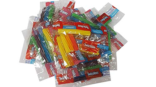 Twizzlers Twists Rainbow Wrapped Candy 2 Pounds Triple Twist Pack
